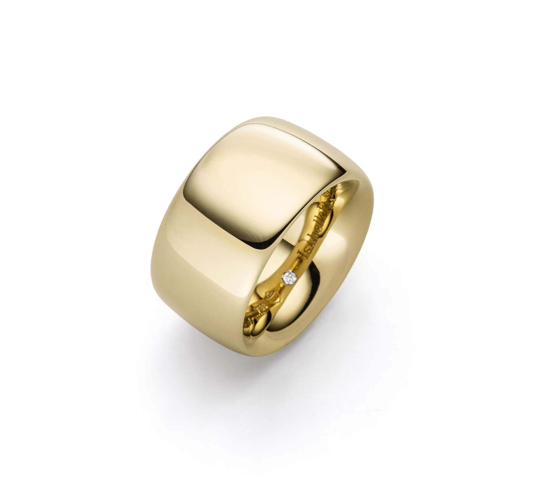 Ring Gold Navette 14 Gelbgold