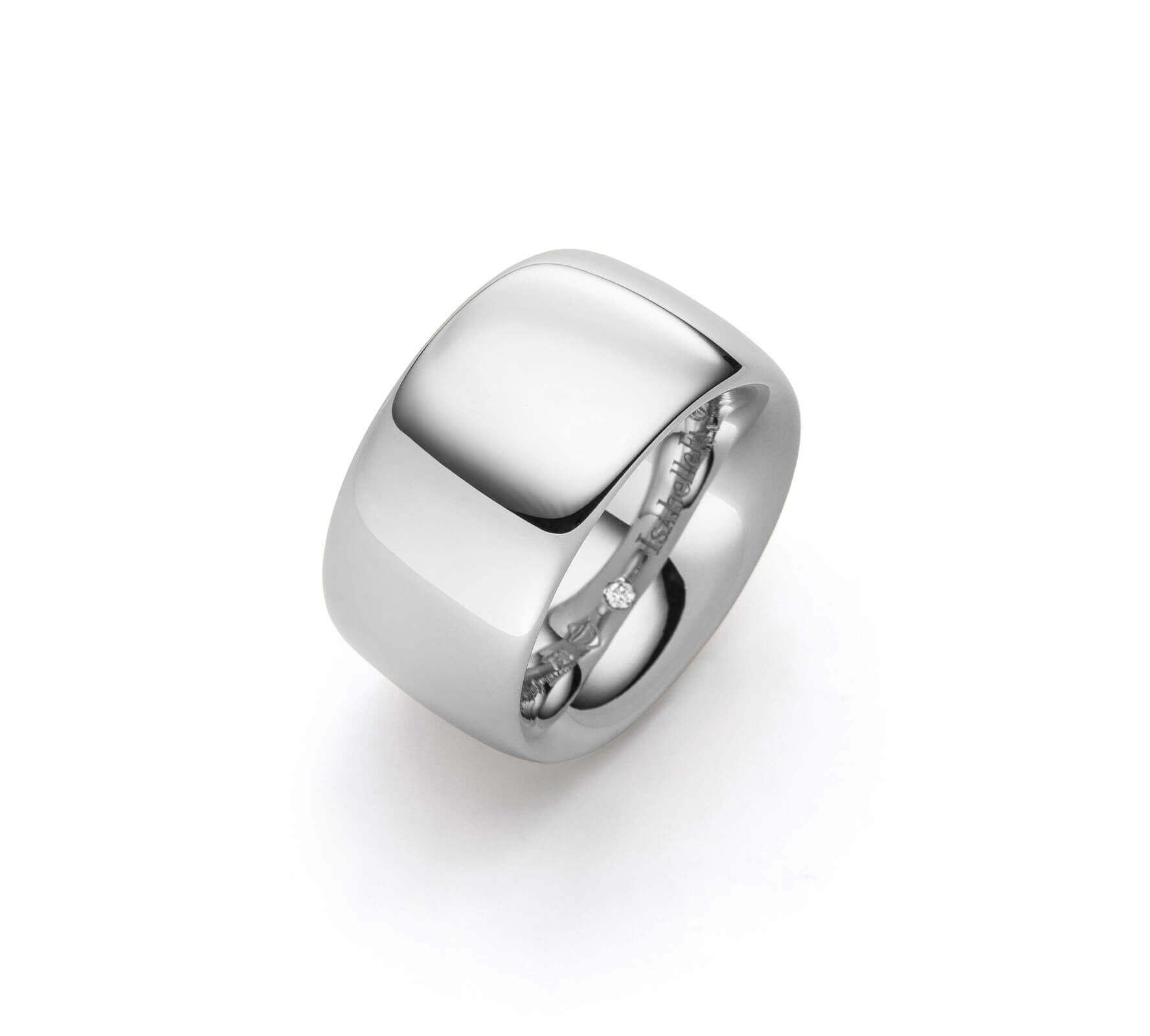 Ring Gold Navette 14 Weißgold