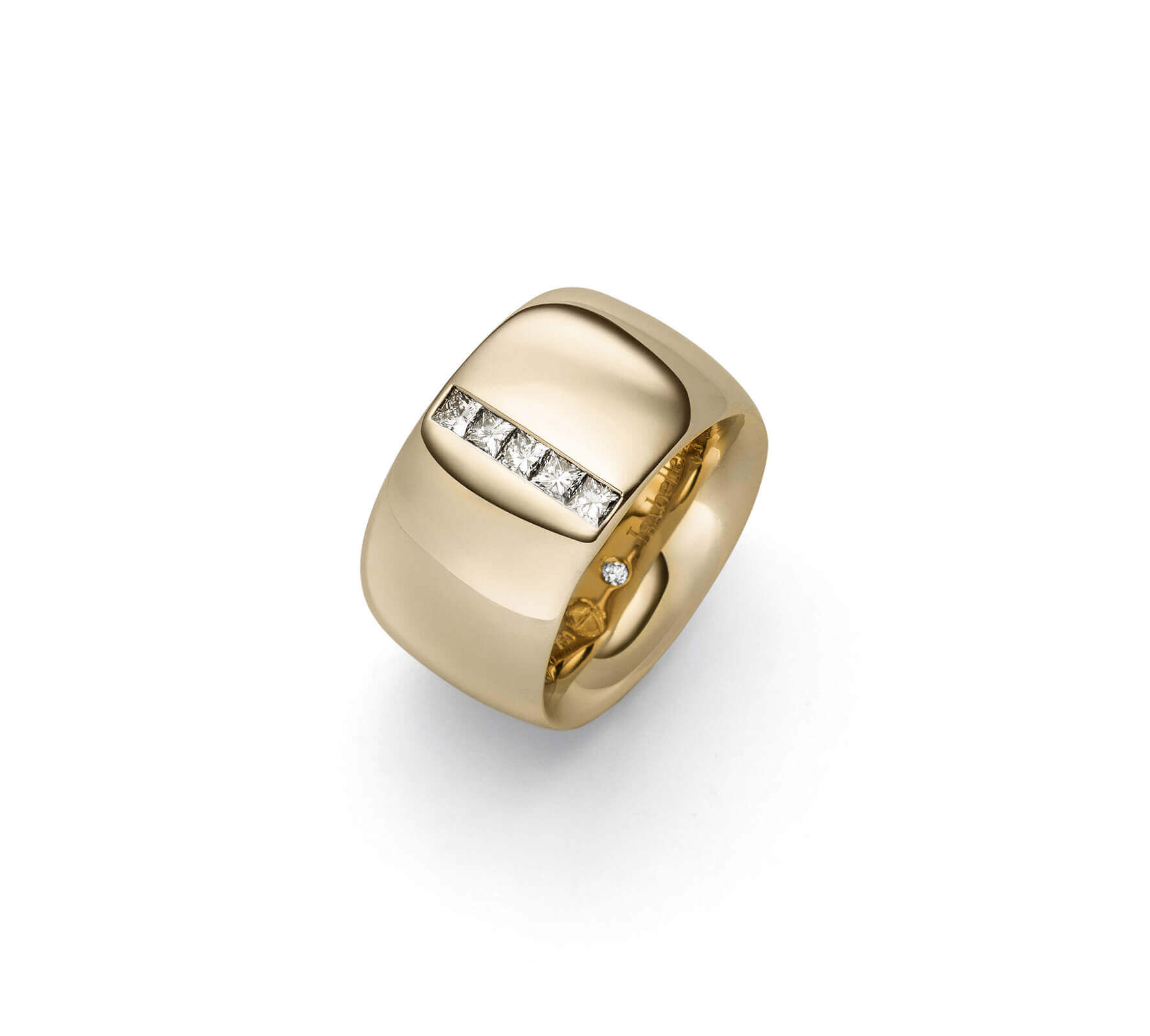 Ring Gold Navette 14 Princess Cut Diamanten Rosegold