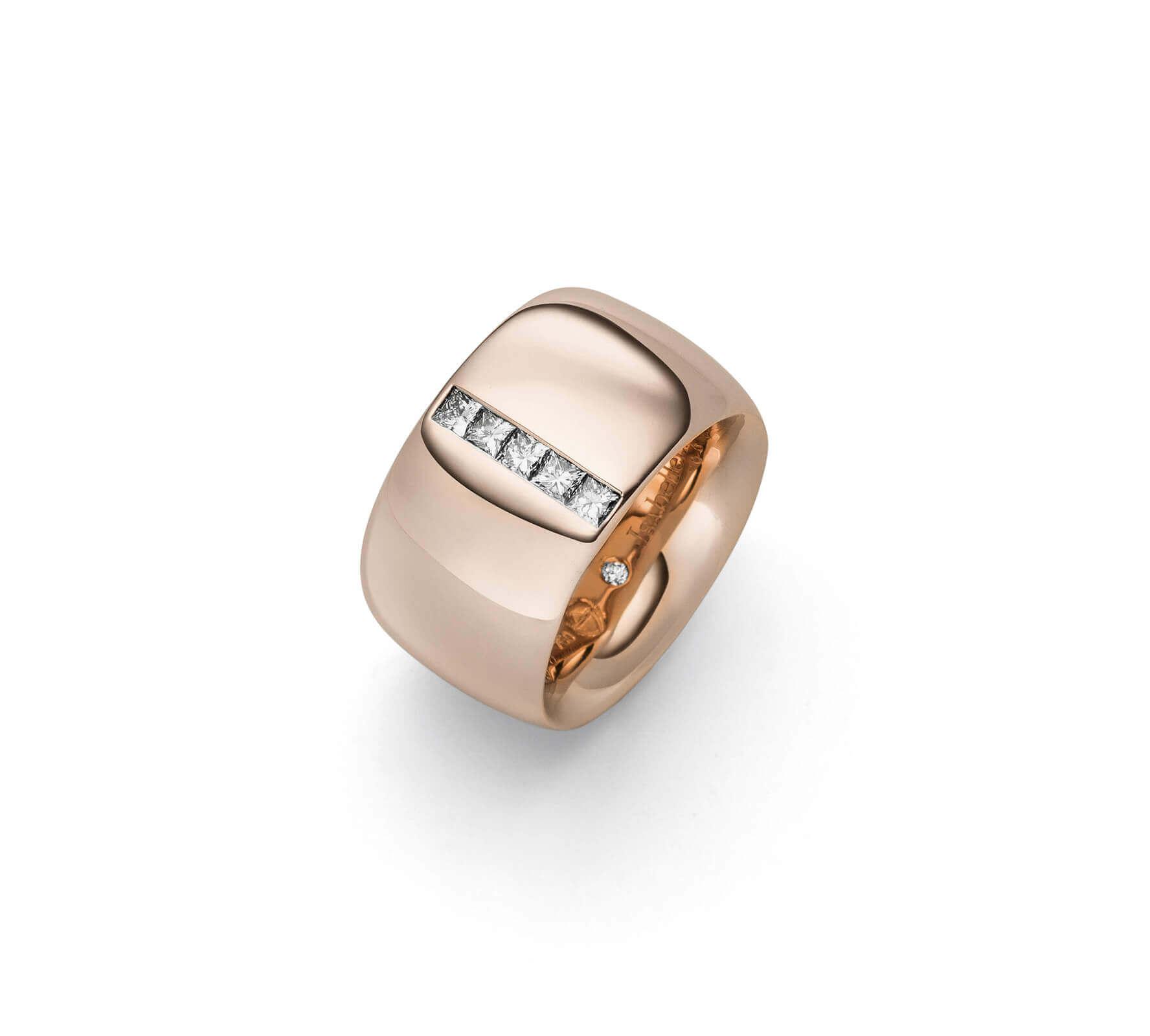 Ring Gold Navette 14 Princess Cut Diamanten RougeRoyal Rotgold